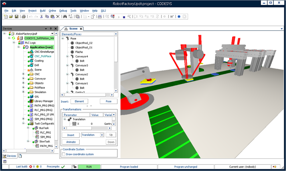 Codesys depictor simulation 3d automatisme