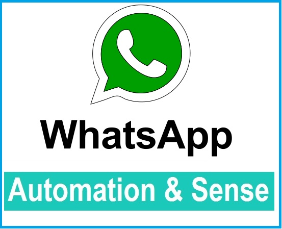 Groupe whatsapp automation sense