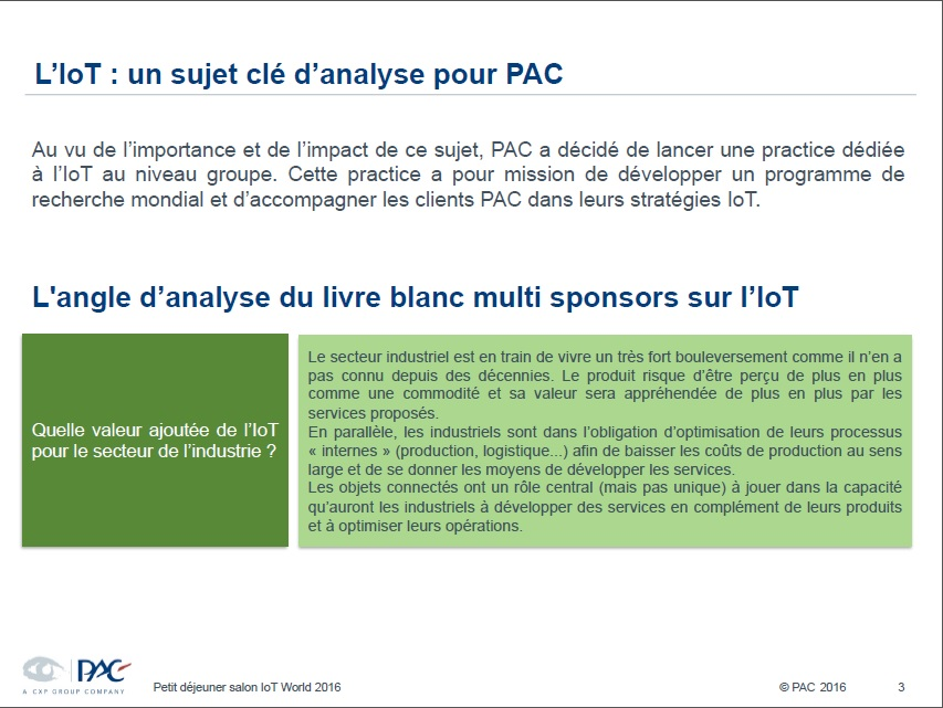Internet des objets analyses pac 3