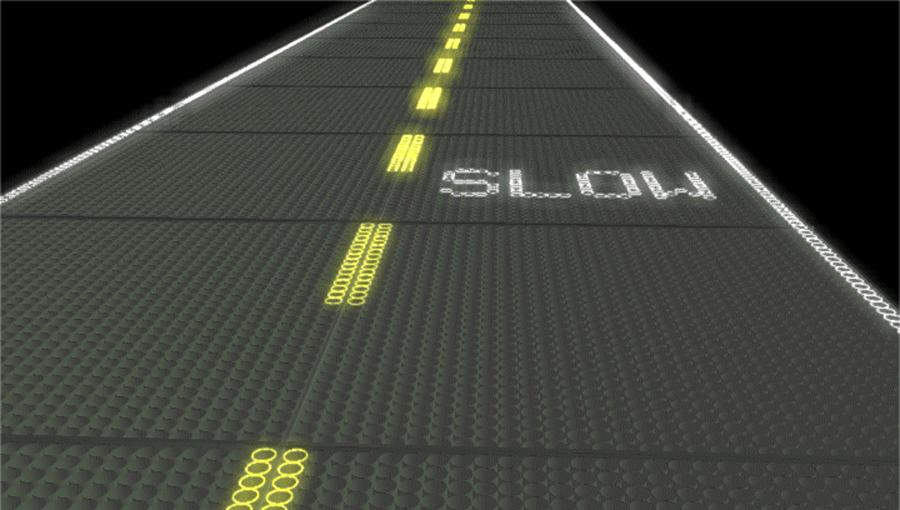 Route solaire future