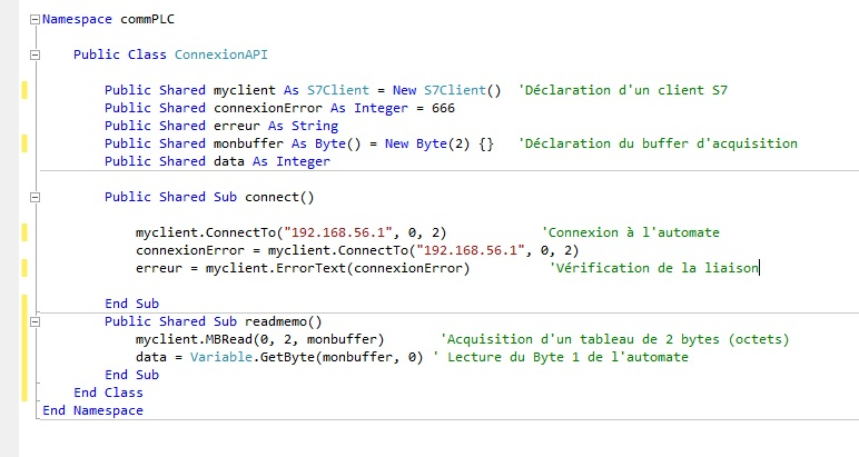 Tutoriel snap7 visual basic vb net francais