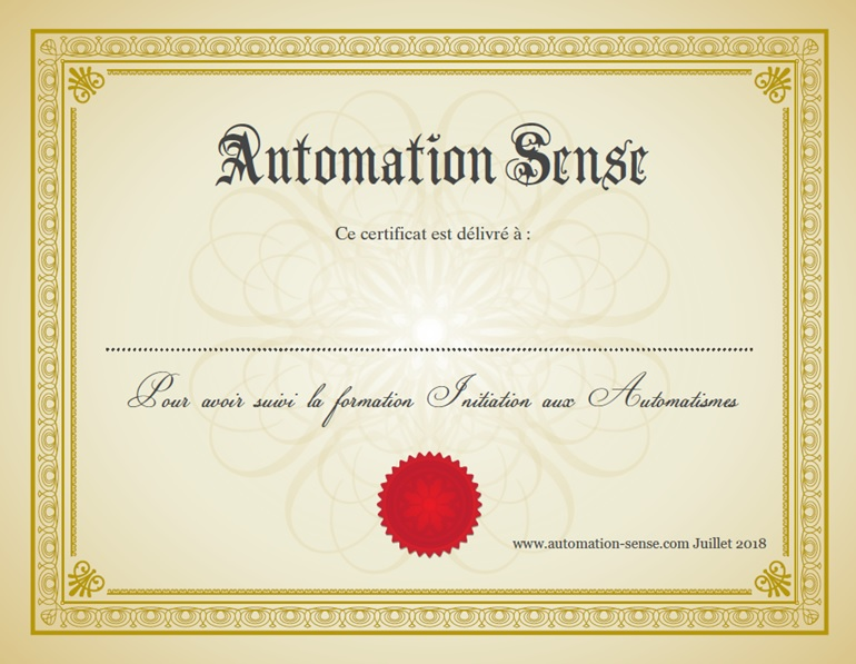 Attestation automaticien
