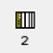 Quelle icône permet de lancer le mode simulation?